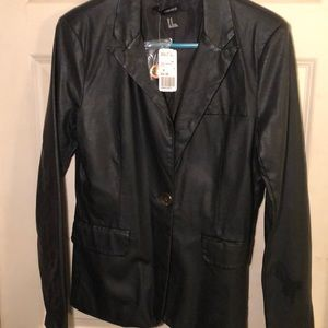 NWT Forever 21 size M faux leather blazer